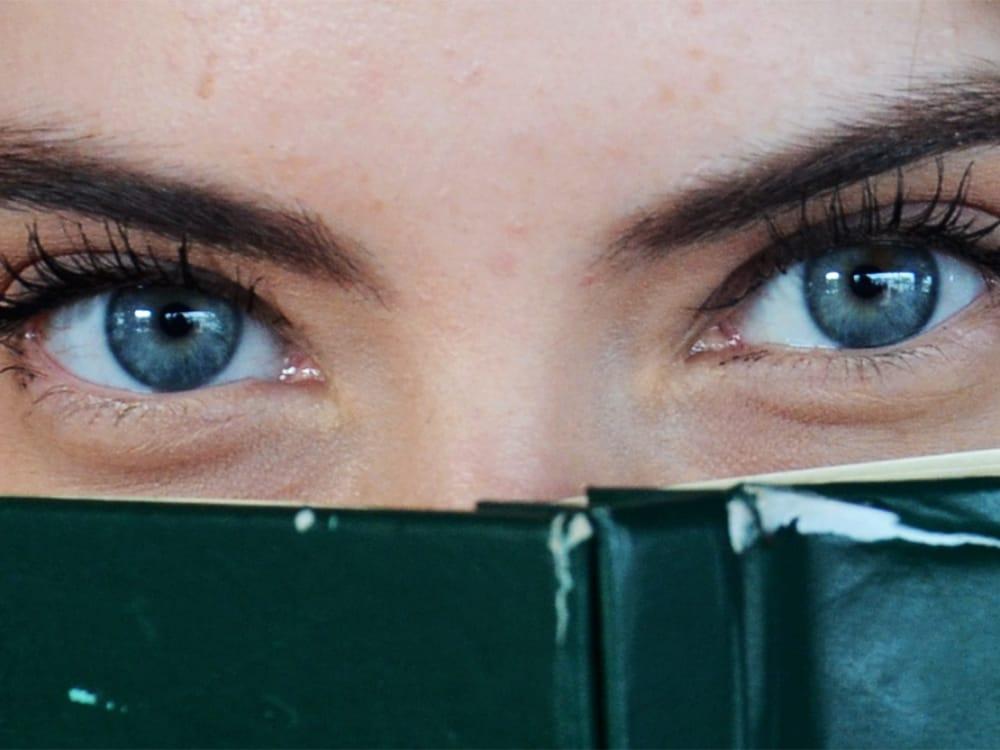 zoom sur le regard d'une femme